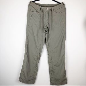 The North Face green hiking cargo pants